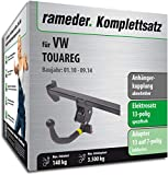 Rameder Komplettsatz, Anhängerkupplung abnehmbar + 13pol Elektrik für VW Touareg (123509-08607-2)