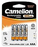 Camelion 17009403 Akku (NiMH, R03, Micro, AAA, 900 mAh, 4er-Pack)