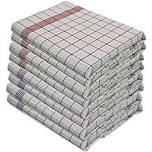 10pezzi strofinacci da cucina, 100% cotone, 50x 70cm, resistente alle