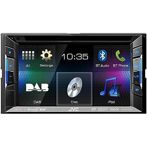 Auto DAB Radio Multimedia 2 DIN DVD USB JVC mit Bluetooth und DAB Antenne für BMW 1 E87 4/5 Türer 03/2007-06/2011 incl Einbauset