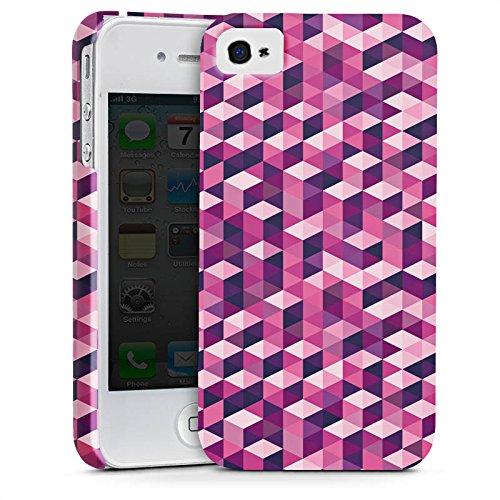 Apple iPhone X Silikon Hülle Case Schutzhülle Würfel Muster Illusion Premium Case glänzend