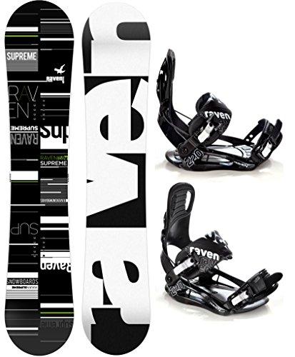 Snowboard Set: Snowboard Raven Supreme 2017 + Bindung Raven s220 Black XL