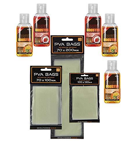 g8ds® Angel-Karpfen-Set aus 3X PVA Bag und 5X Liquid Booster Karpfenangeln Grundangeln Ausrüstung