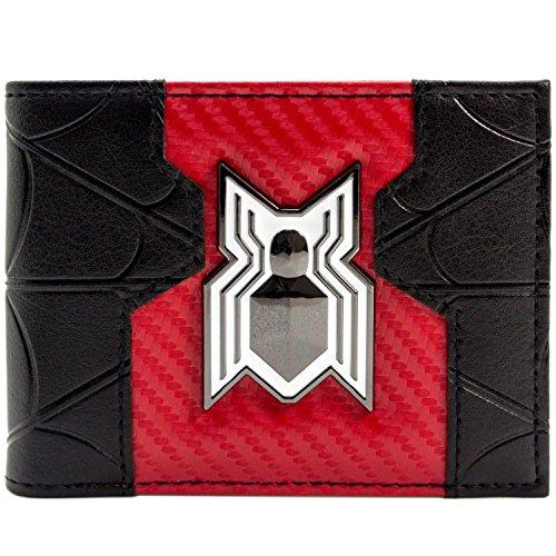 Marvel Spider-Man Heimkehr Film-Weiß-Logo Schwarz Portemonnaie Geldbörse (Macht Eine Spiderman Kostüm)