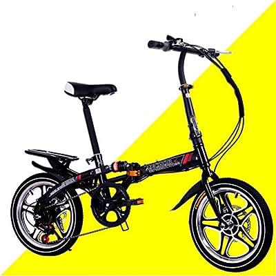 HIKING BK Faltrad 16 inch Damen Variabler Geschwindigkeit Stoßdämpfer Erwachsenen Super licht Student kinderfahrrad Mit Korb-B 107x120cm(42x47inch)