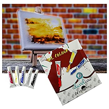 Daveliou Oil Paints Set – 12ml X 24 Colour Paint Tubes – Non Toxic Painting Kit For Beginners Students & Artists 8