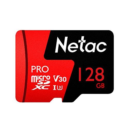 Docooler Stockage de données de carte mémoire de Pro SDXC TF de Netac 64GB/128G V30/UHS-I U3 à grande vitesse jusqu'à 98MB/s