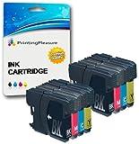 8 Compatibles LC1100 LC980 Cartouches d'encre pour Brother DCP-145C 165C 195C 197C...