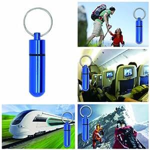Grenhaven XS Adressanhänger Adresstube Adresshülse Halsband wasserdicht Blau für große Hunde Adressenanhänger Adressenkapsel Aufbewahrungsdose Ultra Leicht