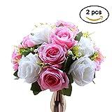 Simulation Rosen, Blumenkugeln mit Sockel, Hochzeit/Party Blumenständer Rosen, Hochzeitsführer/ Site Layout Blumen