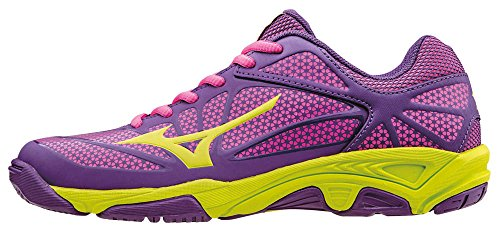 Mizuno Kinder-Unisex Exceed Star Jnr Tennisschuhe Viola (Pansy/Limepunch/Electric)