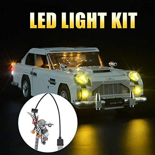LED Beleuchtung Licht-Set DIY Leuchtende Bausteine Zubehör für LEGO Led 10262 Aston Martin LED-Beleuchtung (Enthält Keine Spielzeugmodelle)
