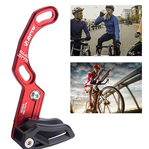 lesgos ISCG 03 Kettenführung, MTB Kettenführung Radfahren Kettenführung für die meisten Fahrrad Rennrad Mountainbike BMX Fixie (7075 CNC RED) -
