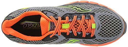 Saucony Ride 7, Running men Grey / Naranja / jaune