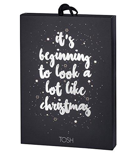 TOSH Damen Schmuck Adventskalender mit 24 Premium Schmuck Überraschungen mit Ohrring, Ring, Armband, Kette