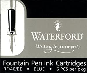 Waterford Cartouches d'encre stylo plume Bleu–Lot de 6