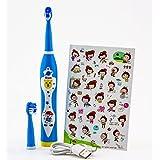 cepillo dental eléctrico recargable UJS Sónico y musical para I Niños maggiori de 3años, color azul