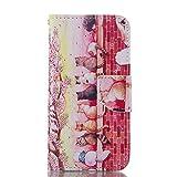 Sconosciuto Flip Libro Stile Portafoglio Borsa LG G5 Custodia Protettiva (Rosa) Antiurto, Carta Titolare PU Pelle Luce Case Cover, Otto Gatti Stampato Immagine
