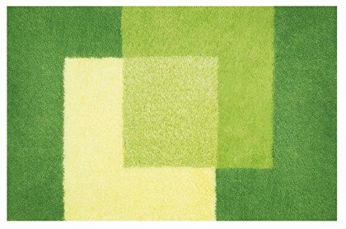 Spirella Badteppich Crossover Hochflor flauschig 60x90 cm – Grün