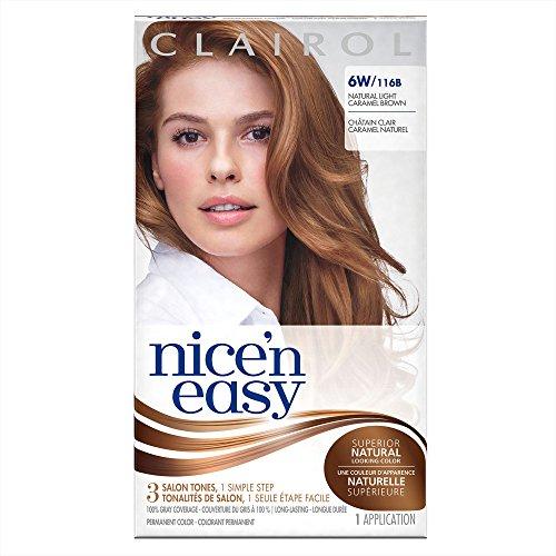 Clairol Coloration de longue durée Nice 'n Easy - Couleur 116B - Châtain caramel clair naturel