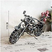 GWModel Vintage Gran Modelo De Moto Handmade Cojinete Hierro Vehículo Modelo Antiguo Arte Colección Home Escritorio