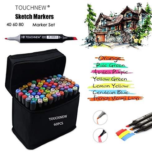 TOUCHNEW 60 rotuladores de colores Manga Graffiti