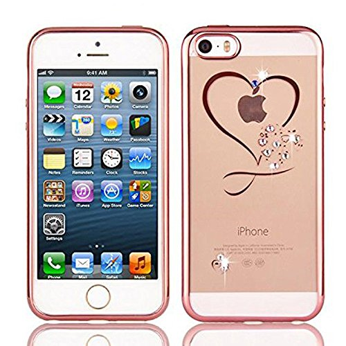 samidy-iphone-se-case-iphone-5-case-iphone-5s-case-clear-soft-metal-border-heart-cover-with-screen-p