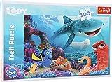 Puzzle - Lernpuzzle - Findet Dory - Findet Nemo - Findet Dorie - Puzzle - 100 Teile. Dorie – der beliebte, vergessliche Doktorfisch - ziert mit seinen Freunden Nemo & Co dieses farbenfrohe Disney-Puzzle. Durch die vielen verschiedenen Farbgebungen ist dieses Puzzle eine echte Herausforderung für Puzzleliebhaber.