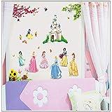 لاصقة لورق الجدران لغرف الاطفال، على شكل الاميرة سنو وايت