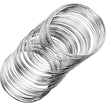 0.6MM THICK JEWELERY MAKING,CHOOSE COLOUR 50 COILS MEMORY WIRE FOR RING 2.2CM