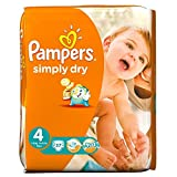 Pampers Simply Dry Größe 4 (7-18kg) Jumbo Box Maxi 74 pro Packung