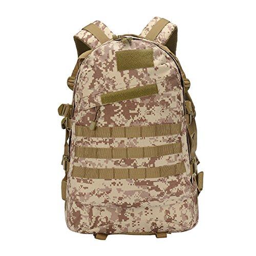 Outdoor schulter Rucksack männlichen und weiblichen Reisen wandern Rucksack Sport große Kapazität camouflage Bergsteigen Pack 52 * 37 * 18 cm, Schlamm Farbe (mit geschlossenen Paket), 45 Liter Wüste Digital