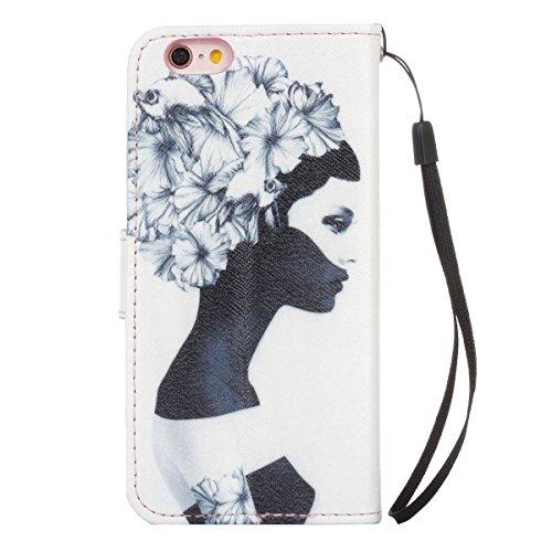 """MOONCASE pour iPhone 6 / 6S (4.7"""") Case Cuir Coque en Portefeuille Protection Housse de Étui à rabat Case ZMD07 ZMD06 #0308"""
