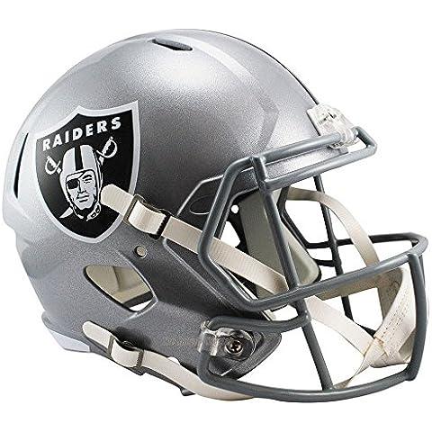 Oakland Raiders Officially Licensed NFL Speed Full Size Replica Football Helmet by Riddell