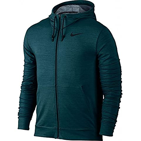 Nike Dri-Fit Training Fleece Fz Hdy - Sudadera para hombre, color turquesa, talla M