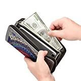 Te-Rich Womens Long Wallet Purse Phone Case Card Holder Pouch Clutch Bag with Detachable Strap