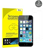 JETech 3-Pack iPhone SE 5S 5C 5 Schutzfolie Panzerglasfolie Gehärtetes Glas 9H Displayschutzfolie