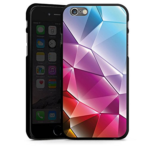 Apple iPhone 4 Housse Étui Silicone Coque Protection Cristal Arc-en-ciel Motif CasDur noir