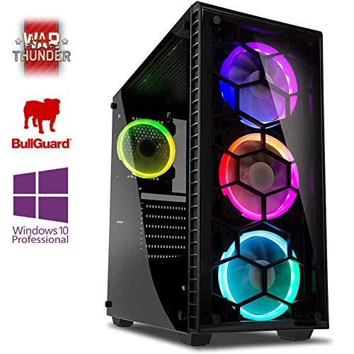 VIBOX Pegasus 35Desktop-PC (Intel Core i7-4790, 32GB RAM, 3TB Festplatte, Nvidia Geforce GTX 980Ti, Windows 10) Neon Blau-Paket mit Spiel War Thunder (Tarjeta De Memoria 32 Gb Pc)