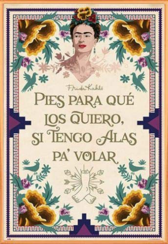 Frida Kahlo Póster Marco Plástico - Pies Que Los