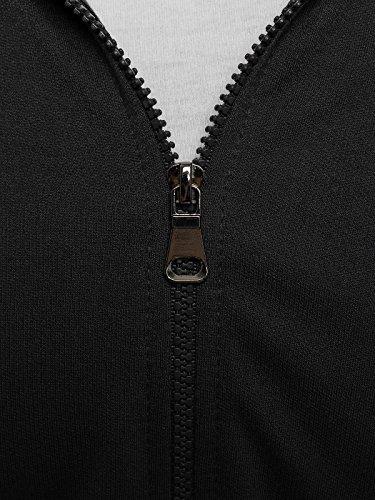 OZONEE Felpa Uomo Felpa con cappuccio Maglia a maniche lunghe Sportivi Pullover STREET STAR 7050 Nero