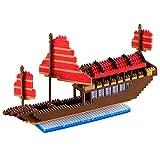 Brixies 410100 - Großes Drachenboot Advance, 3D-Puzzle, Hong Kong Edition, 670 Teile, Schwierigkeitsstufe 5 für Experten, mehrfarbig