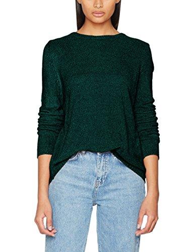 ONLY Damen Onlsway L/S Pullover KNT Noos, Grün (Rain Forest), 40 (Herstellergröße: L)