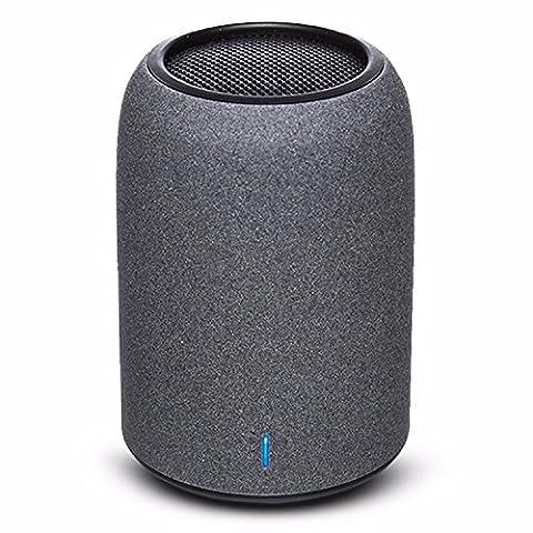 Enceintes Portables, ZENBRE M4 Enceintes Sans Fil Bluetooth 4.2 , Mini Enceintes pour Ordinateur avec Résonateur de Basses Amélioré, Microphone Intégré(Noir)