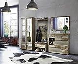 Garderobe, Set, Garderobenschrank, Flurgarderobe, Garderobenmöbel, Dielenmöbel, Flurmöbel, Wandgerderobe, Driftwood, Treibholz, Vintage