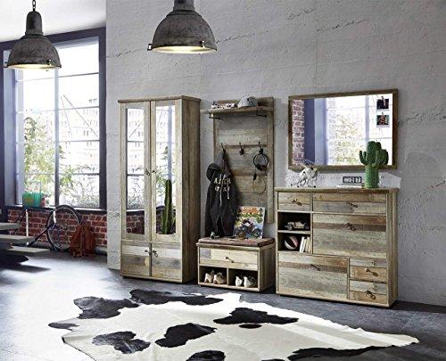 Garderobe, Set, Garderobenschrank, Flurgarderobe, Garderobenmöbel, Dielenmöbel, Flurmöbel,...