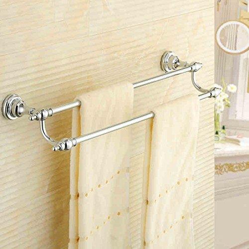 GuoEY Bar von glatten Handtuch Der Kupferstäbe volle Double Bar Serviette im Europäischen Stil Bäder - Bad Zubehör Tür Racks-Towels (62 Cm) Nicht Rost (