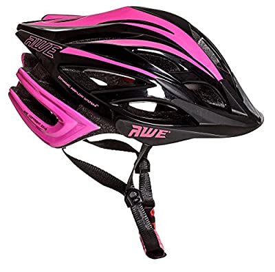 AWE® AWEBlade™ FREE 5 YEAR CRASH REPLACEMENT* In Mould Junior Girls Cycling Helmet 52-56cm Pink/Black by AWE®