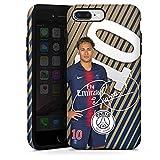 DeinDesign Coque Compatible avec Apple iPhone 8 Plus Coque renforcée Coque Antichoc Paris Saint-Germain Neymar PSG
