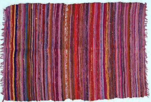 Flickenteppich 100*160 cm / Teppiche und Bodenmatten/ Variante: Farbe: rot-bunt
